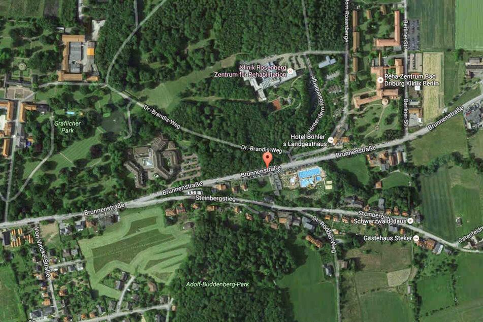 An der Brunnenstraße befinden sich nicht nur die Marcusklinik und ein Hotel, sondern auch das Freibad, das im Sommer für viel Andrang sorgt.