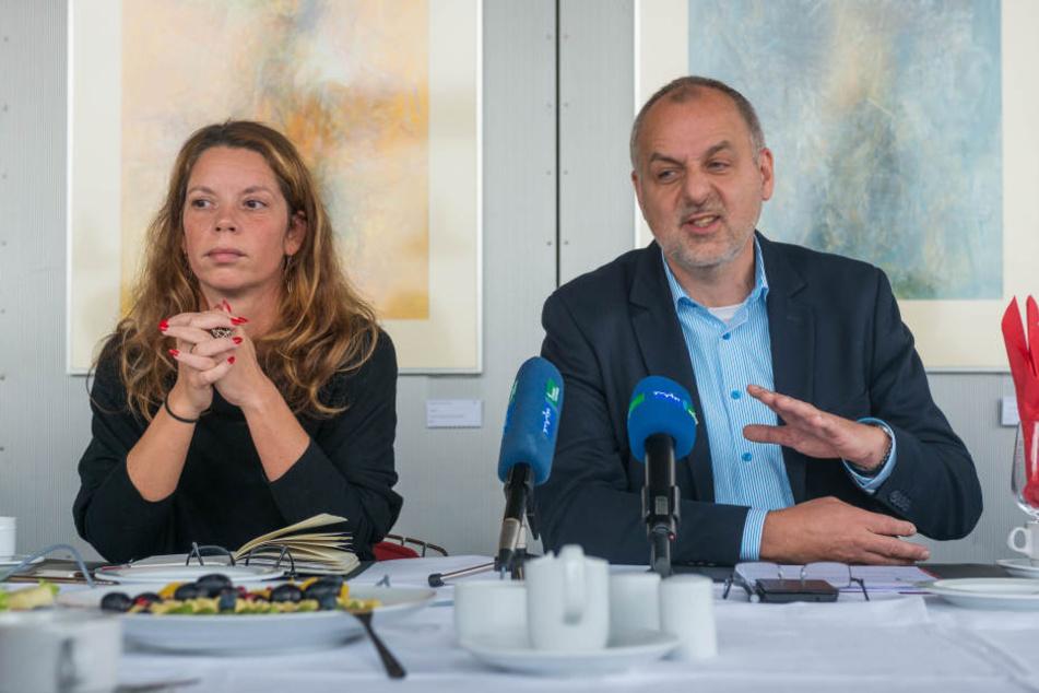 Rico Gebhardt hat Landesgeschäftsführerin Antje Feiks als Nachfolgerin vorgeschlagen.