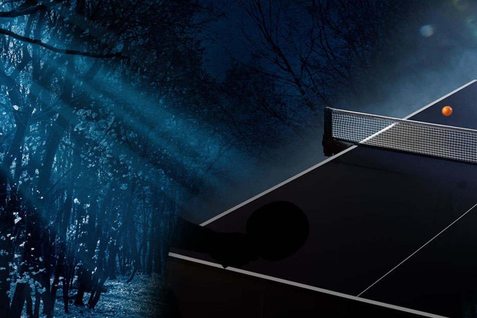 Die Männer zwangen ihr Opfer, sich auf eine Tischtennisplatte zu legen. Dort begann das Martyrium. (Symbolbild/Montage)