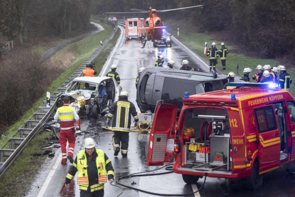 Auch zwei Rettungshubschrauber waren im Einsatz.