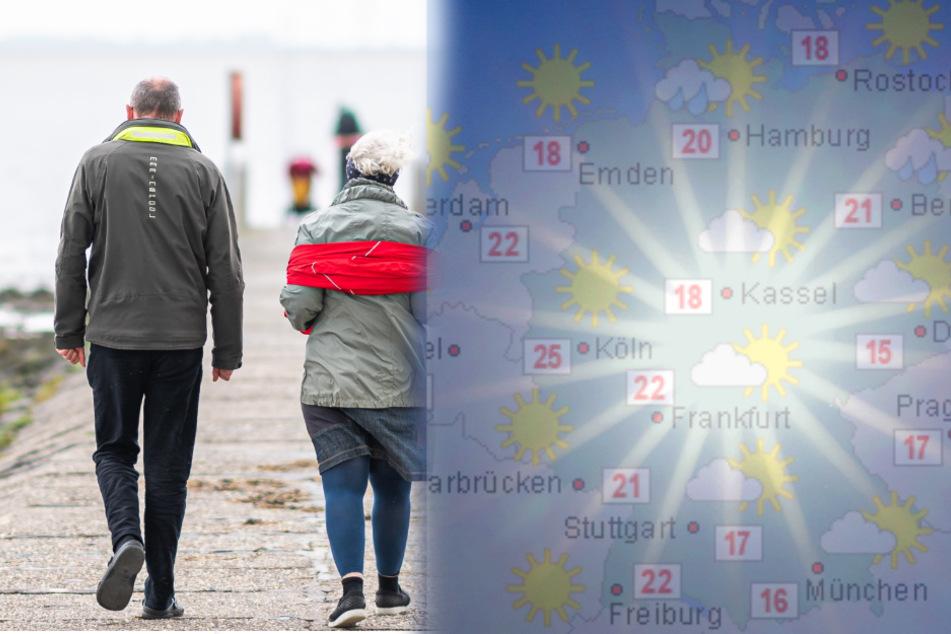 Ab Wochenmitte steigen die Temperaturen wieder.