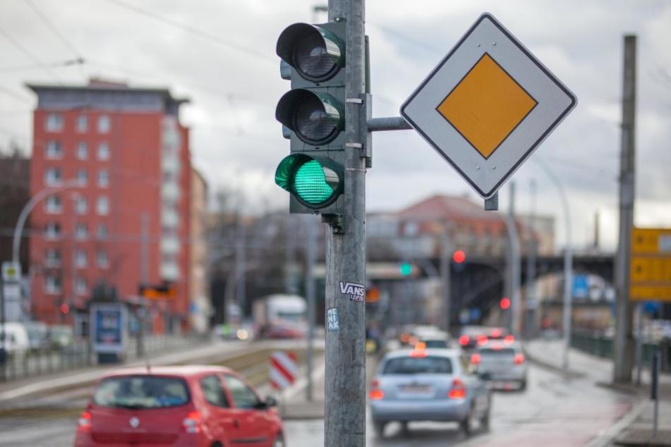 Auf Ausfallstraßen wie der Annaberger will die Stadtratsfraktion der AfD eine  Grüne Welle.