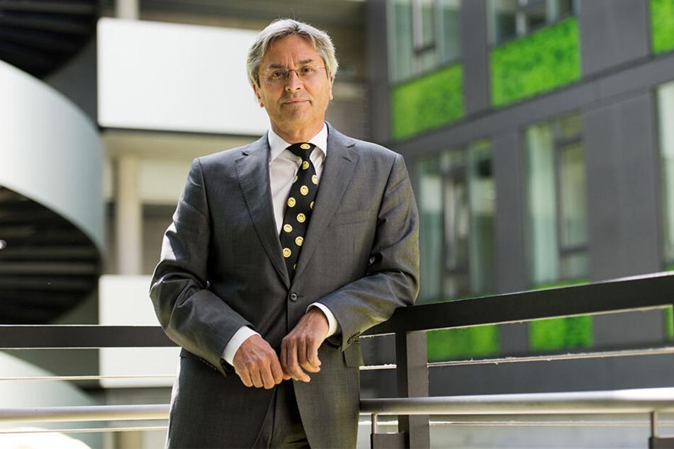 Befürworter der Baumpflanz-Aktion: TU-Rektor Hans Müller-Steinhagen (65).