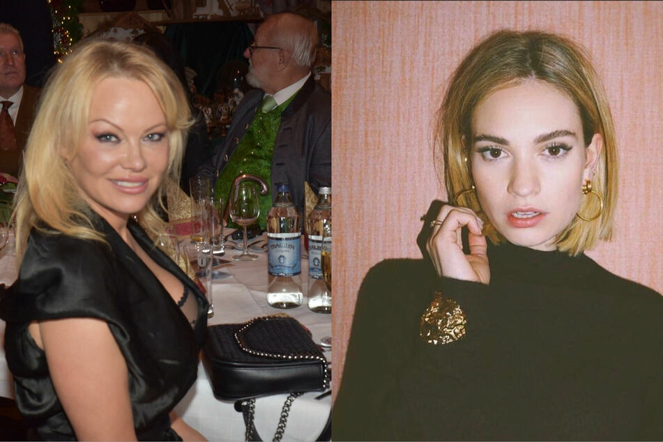 Lily James (r.) will portray Pamela Anderson in an upcoming mini-series about Anderson's marriage to Tommy Lee.