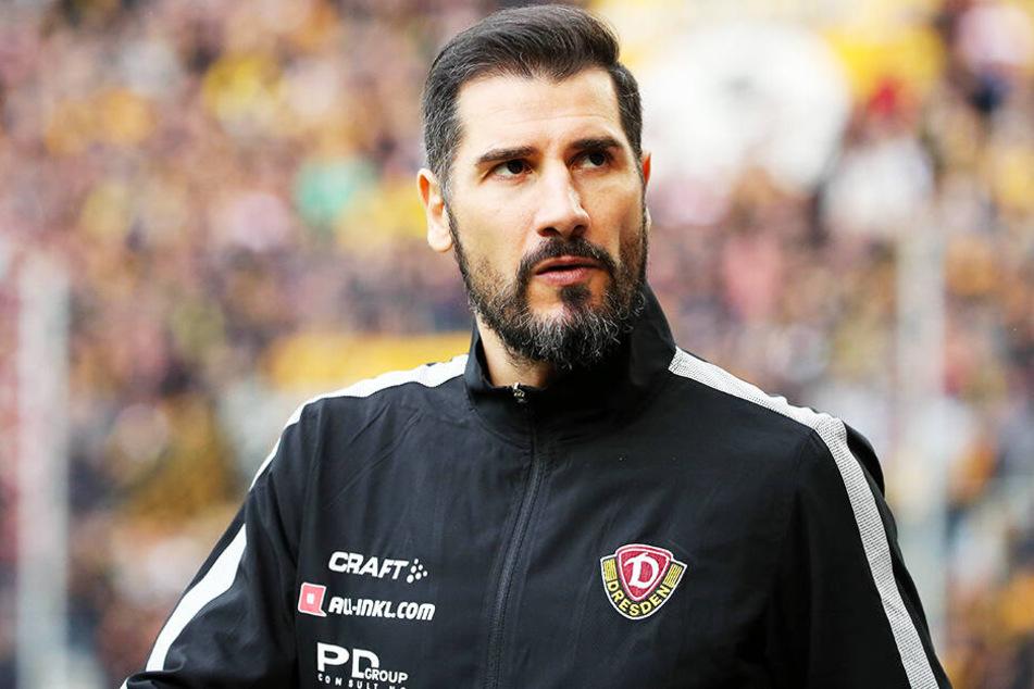 """Dynamo-Coach Cristian Fiel setzt darauf, dass seine Mannschaft passend zu Ostern """"Eier"""" gegen Köln zeigt."""