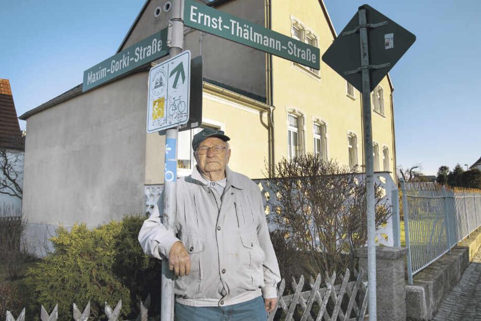 Der Ur-Braunsdorfer Erhart Heinze (91) erlebte die Geschichte der Straßennamen in seinem Örtchen mit.
