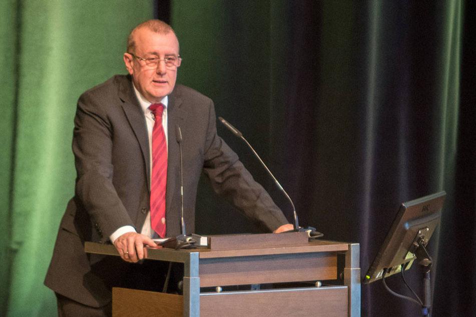 Dynamo-Präsident Andreas Ritter konnte mit dem Verlauf der  Mitgliederversammlung sehr zufrieden sein.