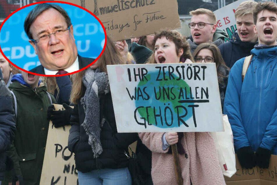 Ministerpräsident Armin Laschet findet, die Schüler sollten in ihrer Freizeit demonstrieren.