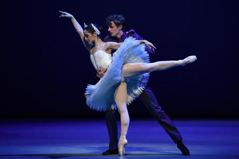 Laura Costa Chaud und Jean-Blaise Druenne als Odette und Siegfried.