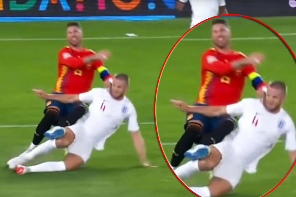 Brutale Blutgrätsche gegen Sergio Ramos! England feiert Dier