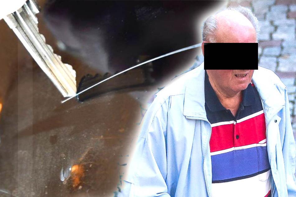 Opa (77)  soll vier Autos mit Schlüssel zerkratzt haben