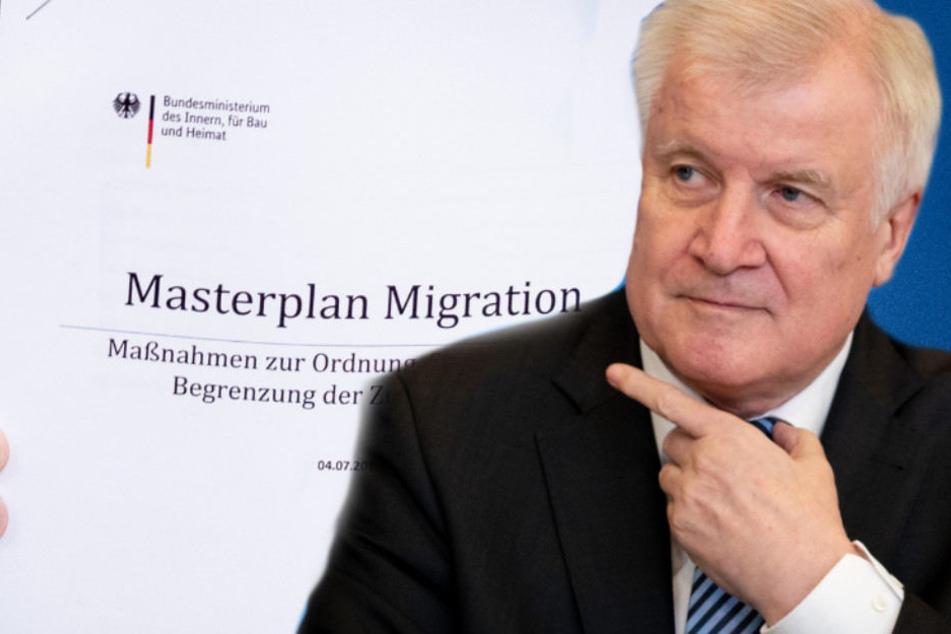 """Horst Seehofer bei der Vorstellung seinen """"Masterplan Migration""""."""