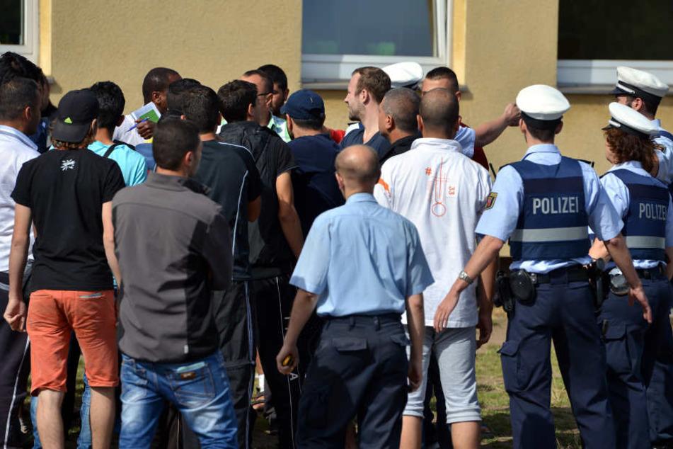 In Marburg kam es am Montagabend zu einer Auseinandersetzung unter Asylbewerbern. (Symbolbild)