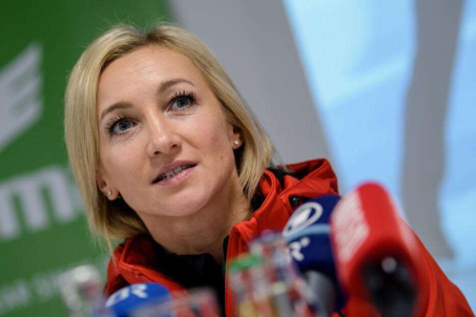Eiskunstläuferin Aljona Savchenko ist zum ersten Mal schwanger. Sie erwartet ein kleines Mädchen.