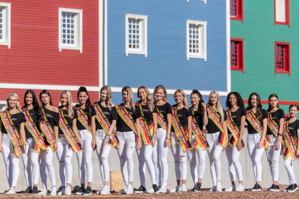 Die 16 Kandidatinnen zur Wahl der Miss Germany 2019.