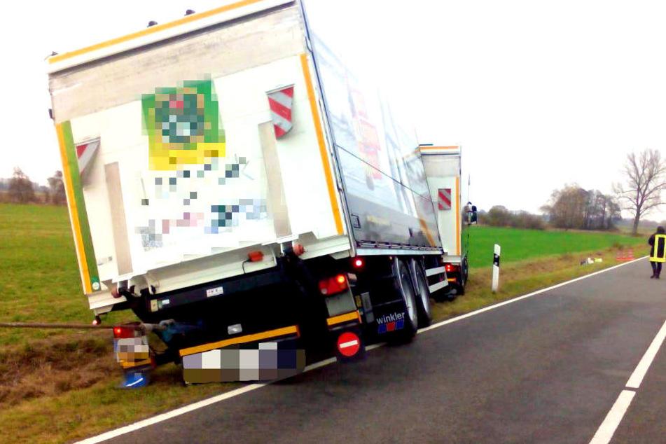 Ein Lastwagenfahrer ist bei einem Unfall in Brandenburg tödlich verunglückt.