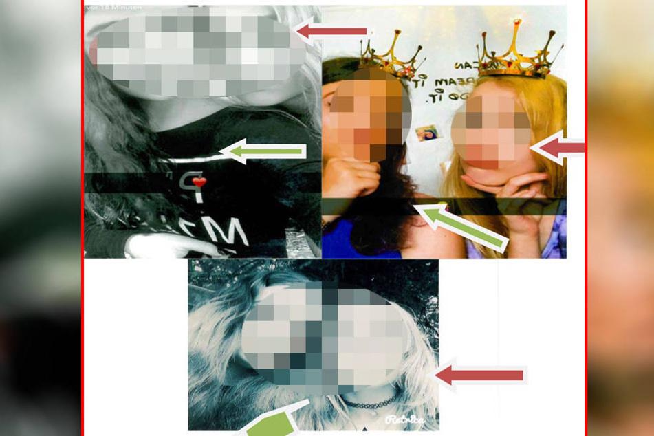 Wo sind Anna (roter Pfeil) und Annalena (grüner Pfeil)?
