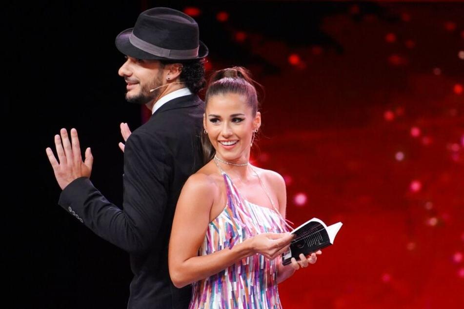 Francesco Caterino und Jurymitglied Sarah Lombardi.