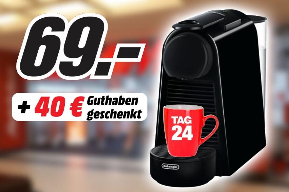 Zum kompakten Gerät bekommt Ihr zusätzlich 40 Euro Guthaben geschenkt!