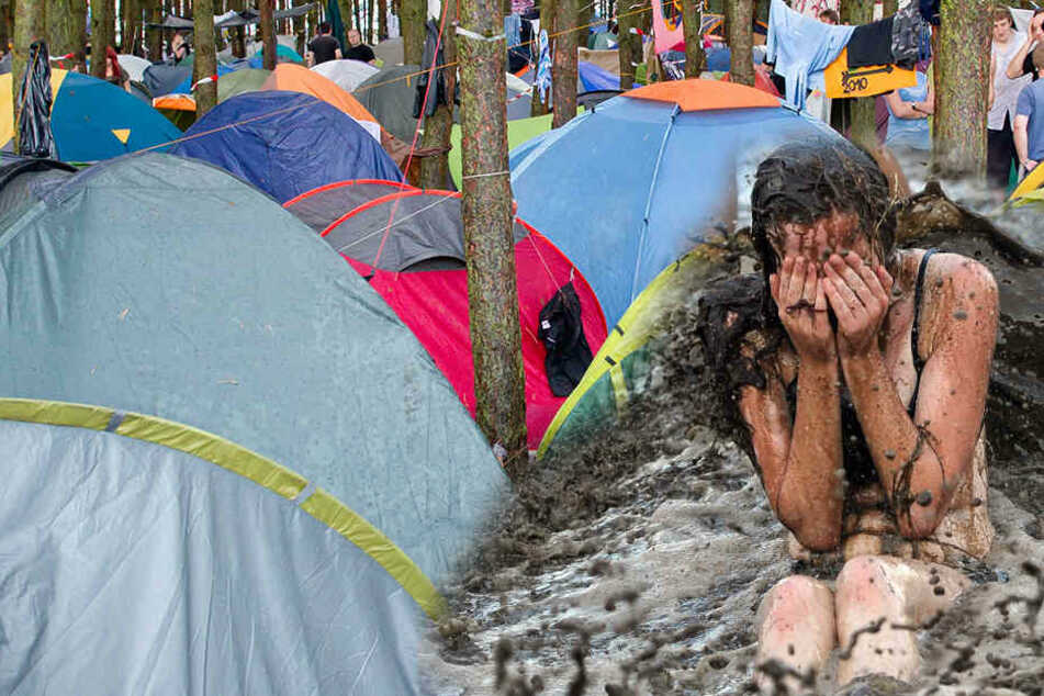 Durch ein Windböe brach ein Ast von einem Baum ab und verletzte fünf Festivalbesucher.