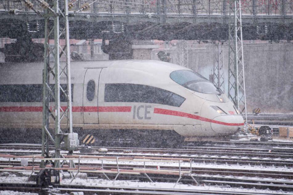 Der Zug stand mitten in der eisigen Kälte. (Symbolbild)