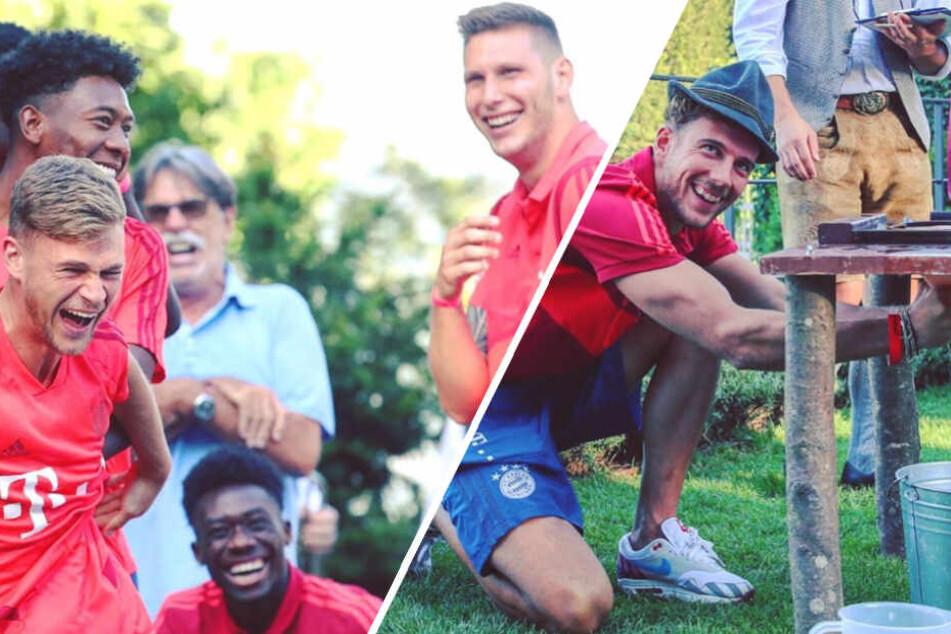 Das Team-Event des FC Bayern München war eine richtige Gaudi und Leon Goretzka konnte zeigen, wie gut er eine Kuh melken kann.