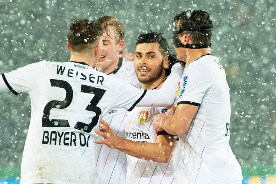 Leverkusen durfte einen hart erkämpften Sieg bejubeln.
