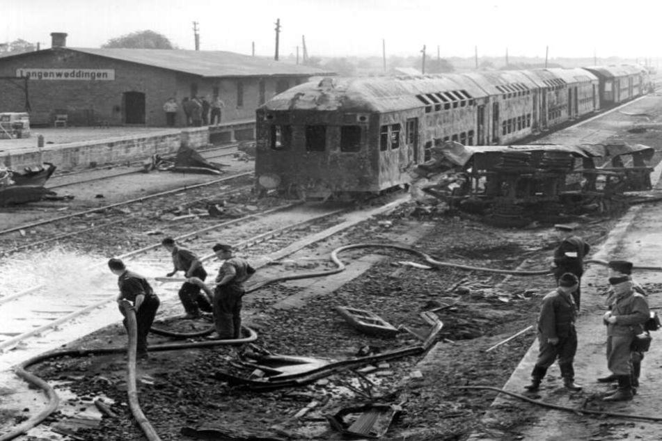 Ein Tanklaster hatten einen Zug gerammt und das Inferno ausgelöst.