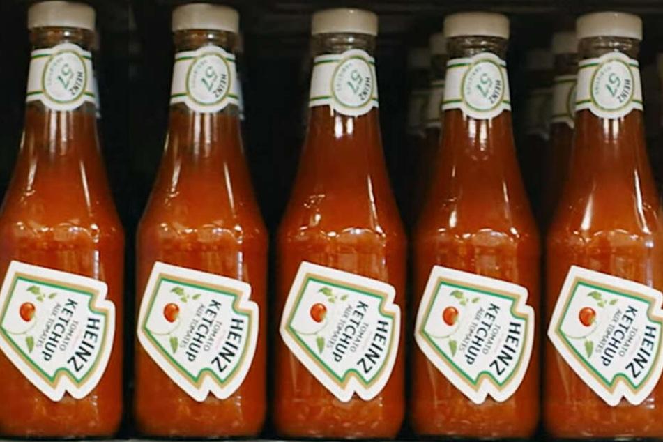 Was hat es mit diesen Ketchup-Flaschen auf sich?