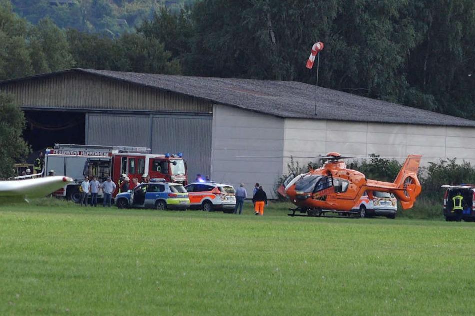 Der junge Mann musste mit einem Rettungshubschrauber transportiert werden.