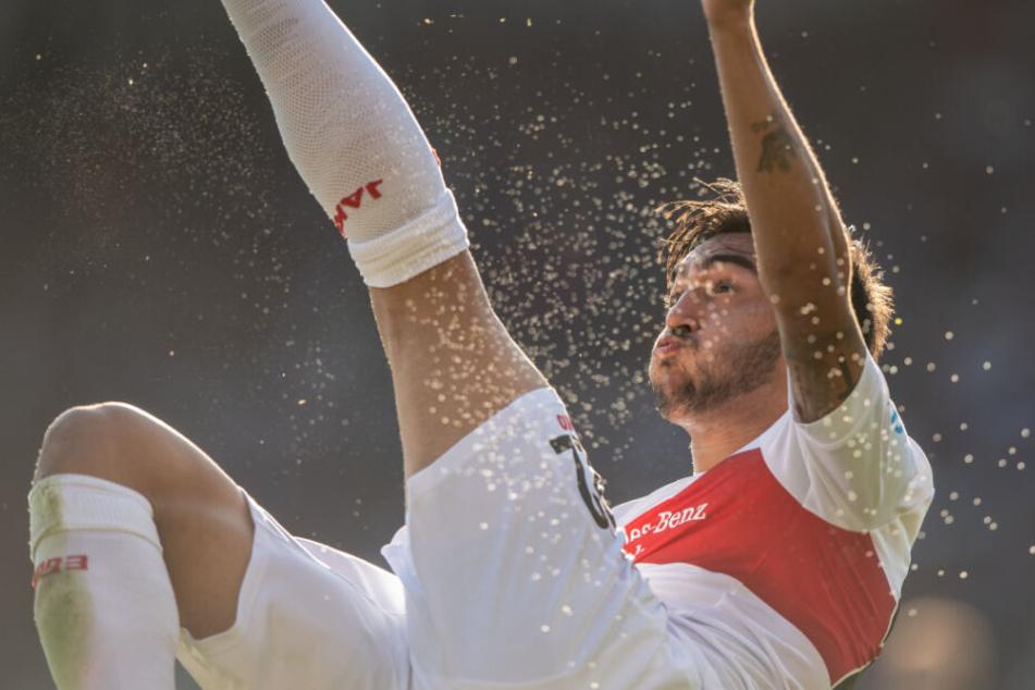 VfB-Stürmer Nicolas Gonzalez droht gegen Wehen Wiesbaden auszufallen.