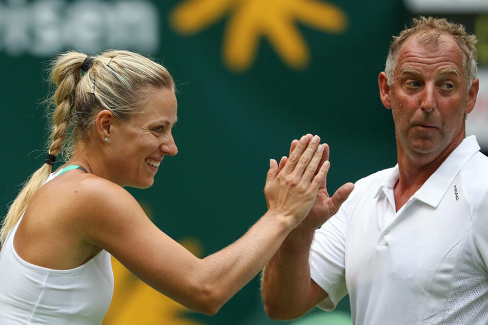 Am Samstag scherzte Angelique Kerber noch mit Ex-Tennis-Profi Thomas Muster.
