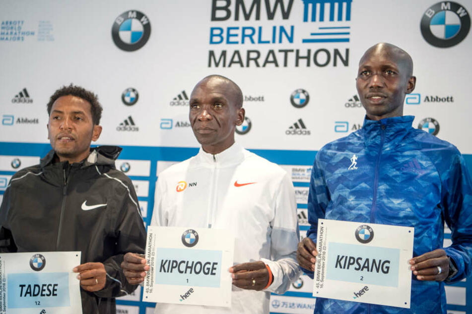 Die Kenianer Eliud Kipchoge und Wilson Kipsang wollen in Berlin den Weltrekord knacken.