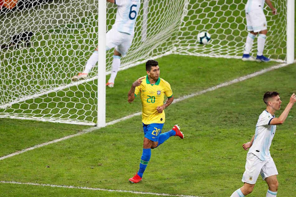 Roberto Firmino nach dem 2:0 Siegtreffer.