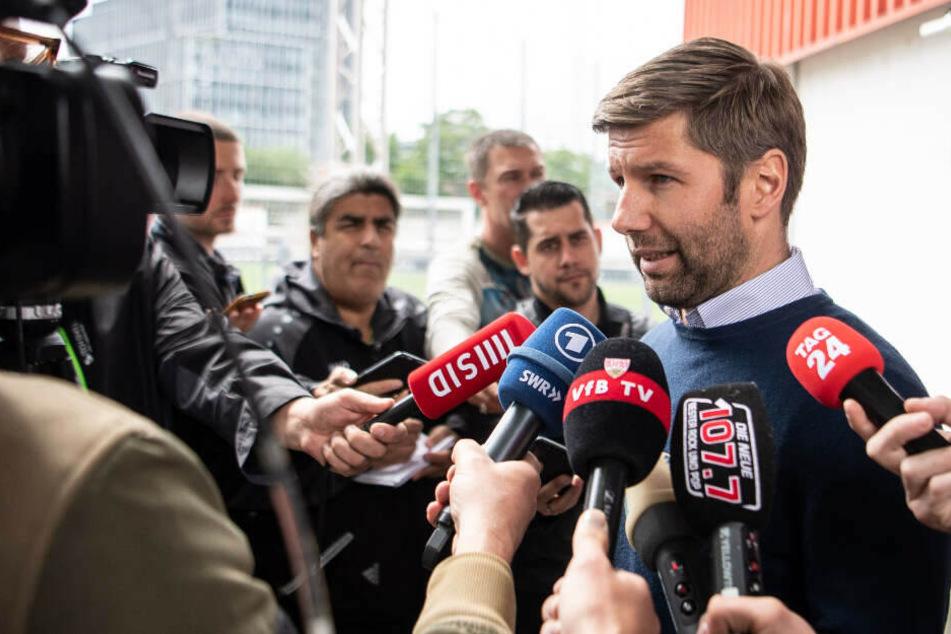 Ist zusammen mit Sportdirektor Sven Mislintat intensiv mit der Kaderplanung beim VfB Stuttgart beschäftigt: Sportvorstand Thomas Hitzlsperger.
