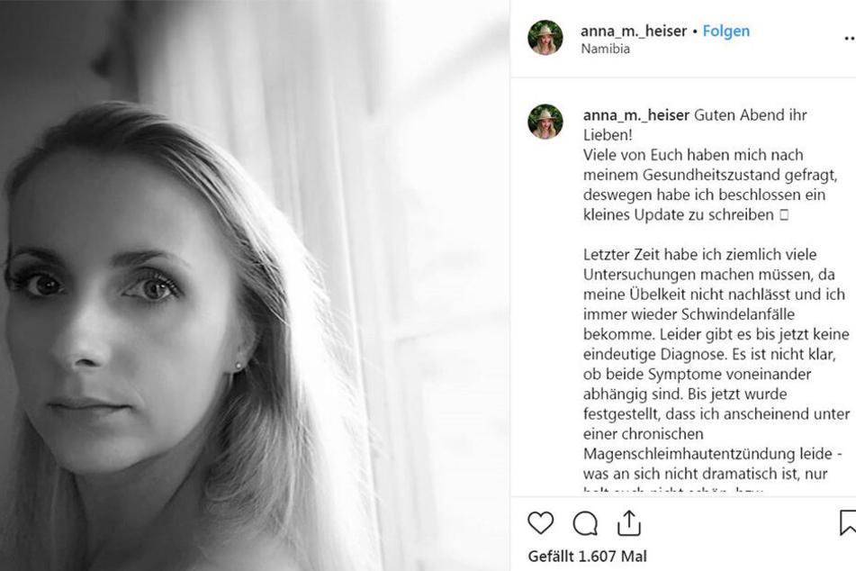 Anna (28) hat keine guten Nachrichten für ihre Fans.