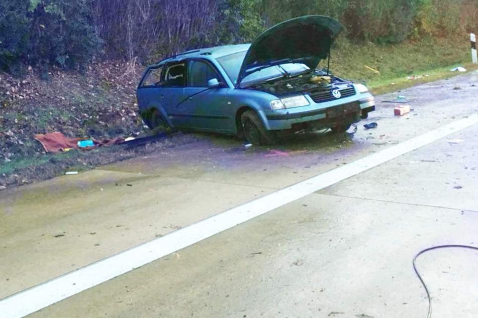 Todes Drama Auf Der A14 Mann Wird Aus Auto Geschleudert Und überfahren