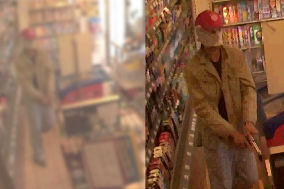 Bewaffneter überfällt Tankstelle: Wer kennt den Mann?