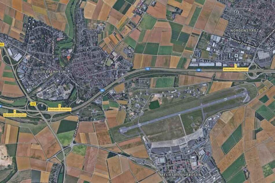 Südlich zwischen Erbenheim und Nordenstadt liegt der Militärflugplatz.