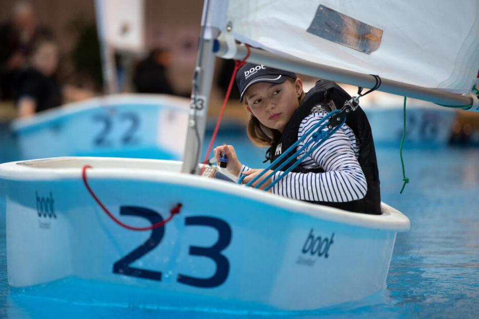 Für Einsteiger gibt's auch kleine Segelboote.