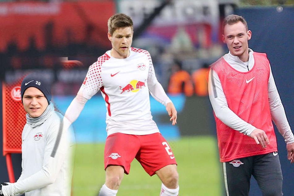 Benno Schmitz, Dominik Kaiser und Federico Palacios (v.l.n.r.) dürfen sich einen neuen Verein suchen.