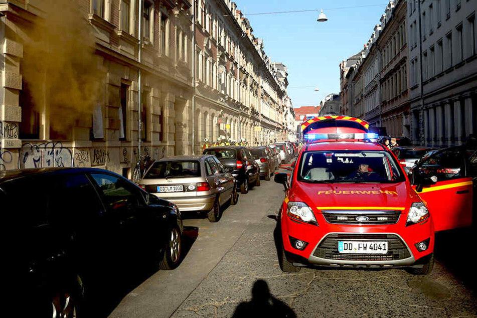 Auf der Förstereistraße brannte es in einem Haus.