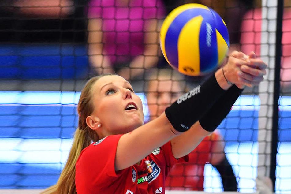 Die Dresdnerin Mareen Apitz wurde zur wertvollsten Spielerin der Partie gewählt.