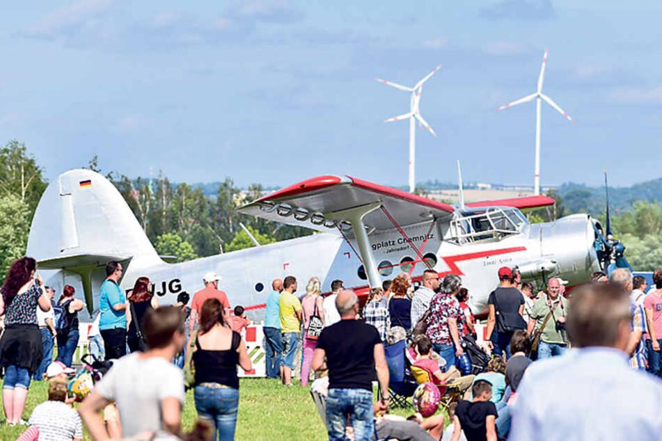 """Zu sehen gab's unter anderen auch """"Tante Anna"""" vom Flugplatz Chemnitz Jahnsdorf."""
