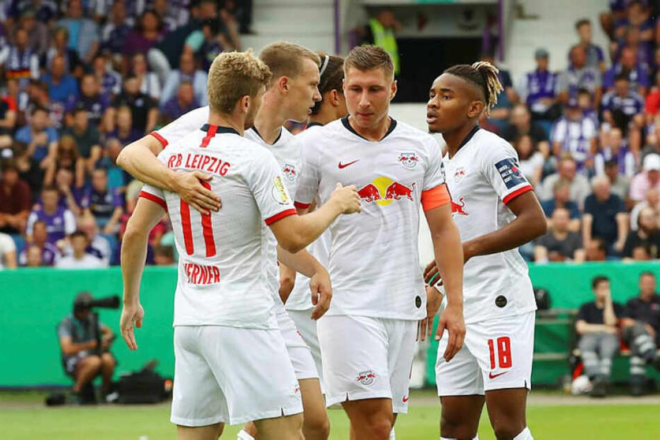 Der letztjährige Pokalfinalist RB Leipzig zitterte sich beim 3:2 in Osnabrück in die zweite Pokalrunde.