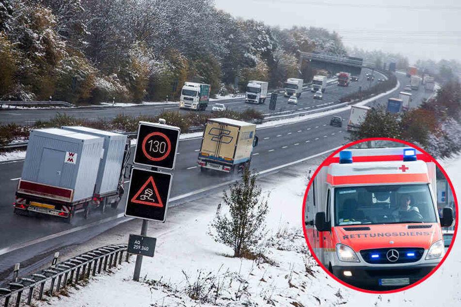 In Richtung Hannover geriet ein Fahrzeug-Gespann ins Schleudern.
