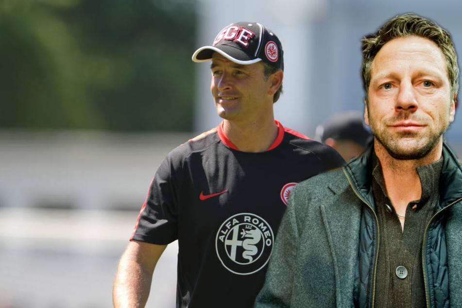 Uwe Bindewald (re.) und Alexander Schur sind nicht länger Trainer der Eintracht-U19.