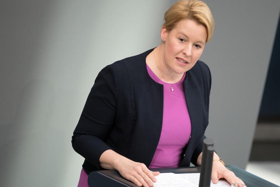Schlimme Fallzahlen des BKA zu häuslicher Gewalt hatte am Dienstag Familienministerin Franziska Giffey (40, SPD) zu verkünden. (Archiv)