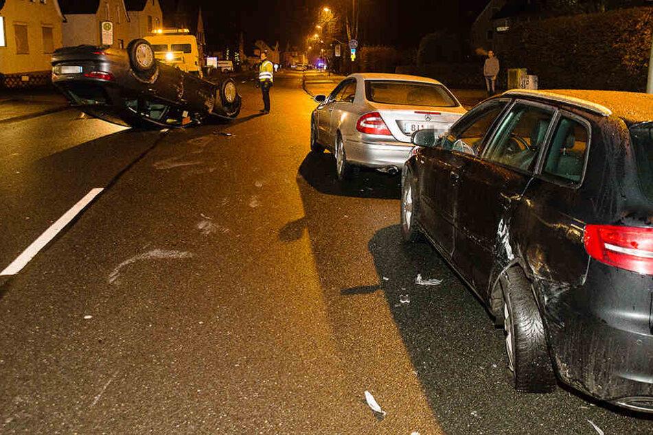 60.000 Euro Schaden entstanden an allen Autos.