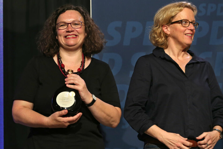 Andrea Nahles (l) und Natascha Kohnen gaben kurz vor der Wahl nochmal alles.